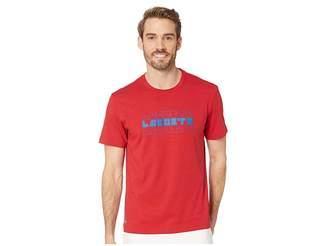 Lacoste Short Sleeve Regular Fit 3 Tier Wordplay T-Shirt