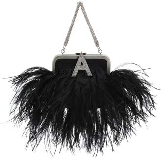 ATTICO The Feather-trimmed clutch