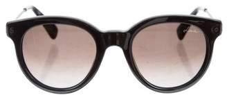 Lanvin Metallic Round Sunglasses w/ Tags