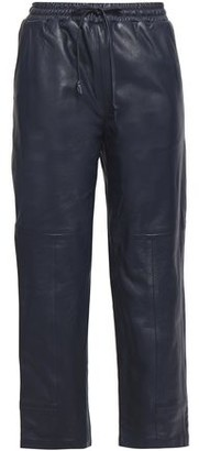 J Brand Cropped Leather Track Pants