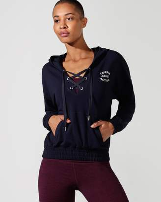 Lorna Jane Lace-Up Cropped Active Hoodie