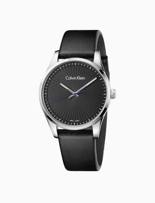Calvin Klein steadfast leather watch