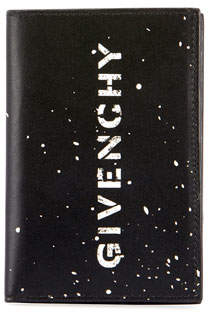 Givenchy Men's Splatter Logo-Front Card Holder