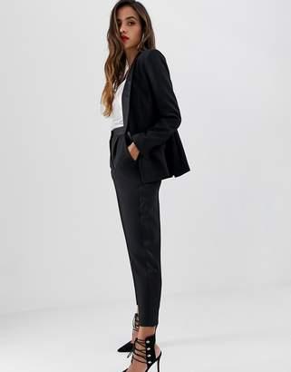Asos Design DESIGN slim tux suit pants with satin contrast