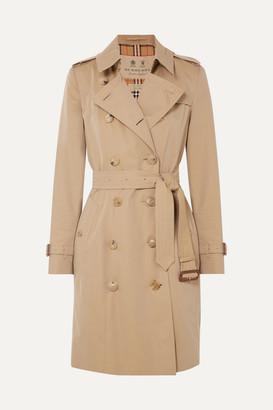 Burberry The Chelsea Cotton-gabardine Trench Coat - Beige