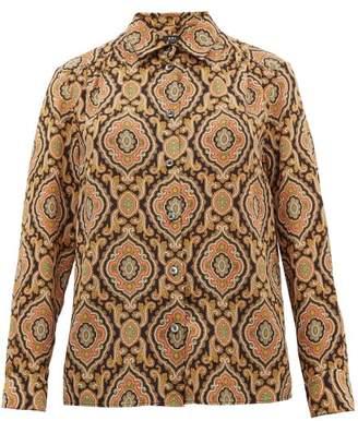 A.P.C. Sutton Paisley Print Silk Shirt - Womens - Multi