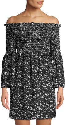 Max Studio Off-The-Shoulder Bell-Sleeve Dress