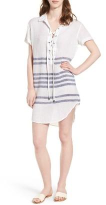 Women's Rails Rocky Lace-Up Tunic Dress $158 thestylecure.com