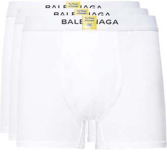 Balenciaga Three-Pack Cotton Boxer Briefs