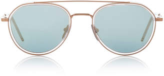 Thom Browne Sun Rose Gold-Tone Aviator Sunglasses