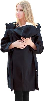 Sweet Mommy Big Hoodie Mother Duffle Coat with baby wearing pouch NVS