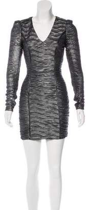 Torn By Ronny Kobo Metallic Mini Dress