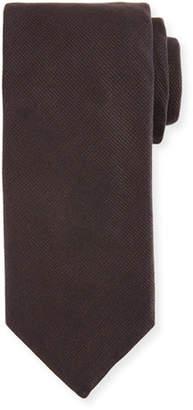 Canali Silk-Cashmere Tie, Brown