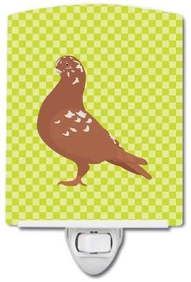 Pigeon Caroline's Treasures African Owl Green Ceramic Night Light