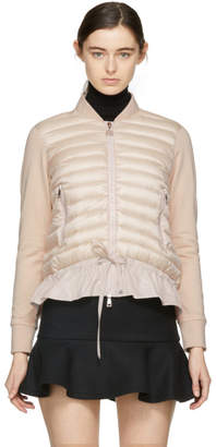 Moncler Pink Down Cardigan Jacket