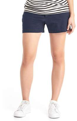 Gap Maternity inset panel twill summer shorts