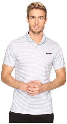 Nike Momentum Fly Dri Fit Wool Stripe Polo - Light Men's Short Sleeve Pullover