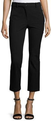 Rebecca Taylor Straight Cropped Suit Pant, Black $295 thestylecure.com