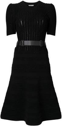 Bottega Veneta belted flared dress