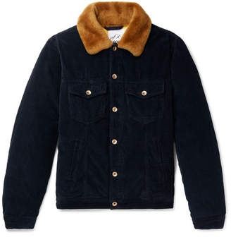 President's Shearling-Trimmed Cotton-Corduroy Down Jacket