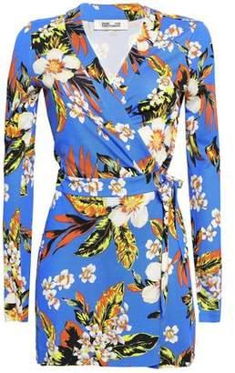Diane von Furstenberg Celeste Floral-print Silk-jersey Wrap Playsuit