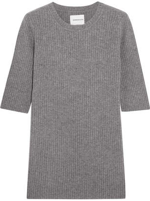 Georgia Alice - Freeway Ribbed Wool And Cashmere-blend Top - Gray