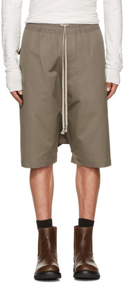 Rick Owens Grey Rick's Pods Shorts $615 thestylecure.com