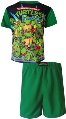 AME Sleepwear Teenage Mutant Ninja Turtle Gang Toddler Pajama for Little Boys