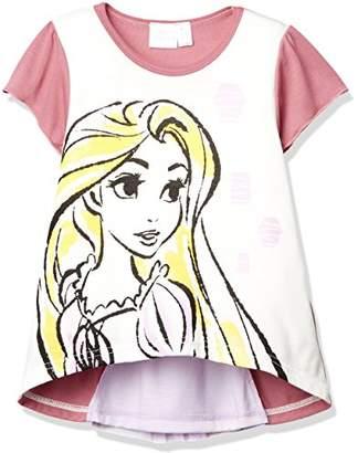 Disney (ディズニー) - [ディズニー] DBラプンツェルバックシャンTシャツ 332107010 ガールズ パープル 日本 130 (日本サイズ130 相当)