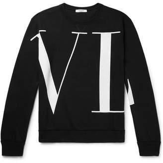 Valentino Logo-Print Loopback Cotton-Blend Jersey Sweatshirt