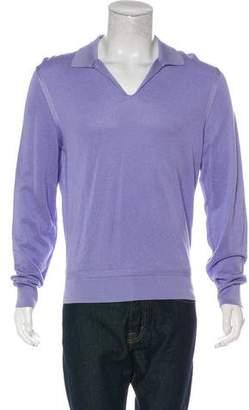 Tom Ford Knit Long Sleeve Polo Shirt