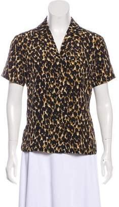Halston Silk Short-Sleeve Top