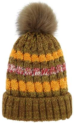 Forever 21 Faux Fur-Lined Foldover Beanie