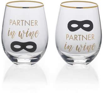 Mikasa Partner in Wine Stemless Wine Set of 2