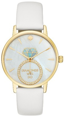 Women's Kate Spade New York Metro Wish Leather Strap Watch, 34Mm $225 thestylecure.com