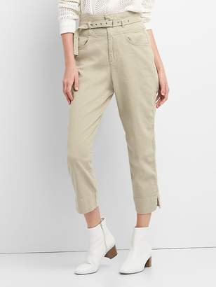 High Rise Chinos with Belt in Color
