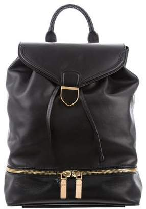 Alexander McQueen Leather Drawstring Backpack