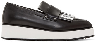 McQ Alexander Mcqueen Black Fringed Manor Loafers $495 thestylecure.com