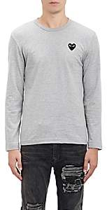 Comme des Garcons Men's Heart Patch Long-Sleeve T-Shirt - Gray