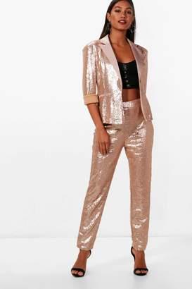 boohoo Boutique Sequin Tailored Suit Trouser
