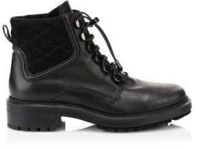 Aquatalia Linda Leather Combat Boots