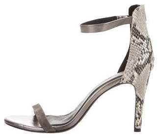 Joie Suede and Snakeprint Sandals