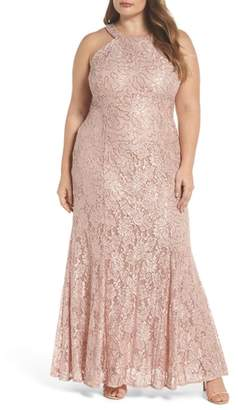Morgan & Co. Sequin Lace Gown