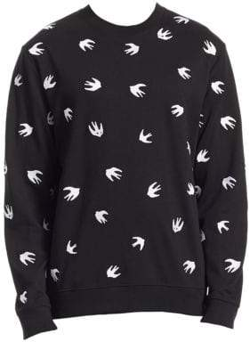 McQ Swallow-Print Sweatshirt