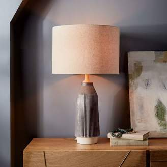 West elm table lamps shopstyle at west elm west elm roar rabbittm ripple ceramic table lamp large narrow warm gray aloadofball Choice Image