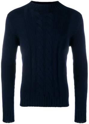 Tagliatore mock neck cable knit sweater