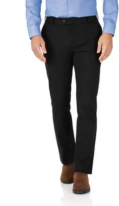 Charles Tyrwhitt Black Slim Fit Stretch Cotton Chino Pants Size W32 L34