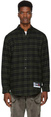 Alexander Wang Green and Black Flannel Player ID Classic Shirt