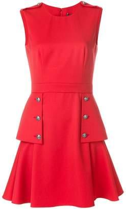 Alexander McQueen embossed button dress