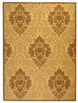 MANUFACTURER'S CLOSEOUT! Safavieh Area Rug, Courtyard Indoor/Outdoor CY2714 Natural/Brown 6' 7